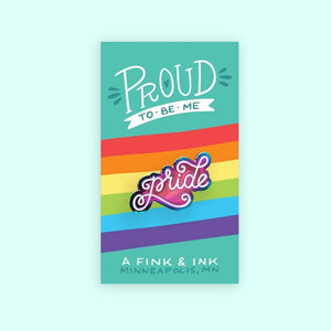 "Metallic Rainbow Pride Enamel Pin - LGBTQ - Gay Pride - Lapel Pins - 1.25"" Soft Enamel - Rainbow"
