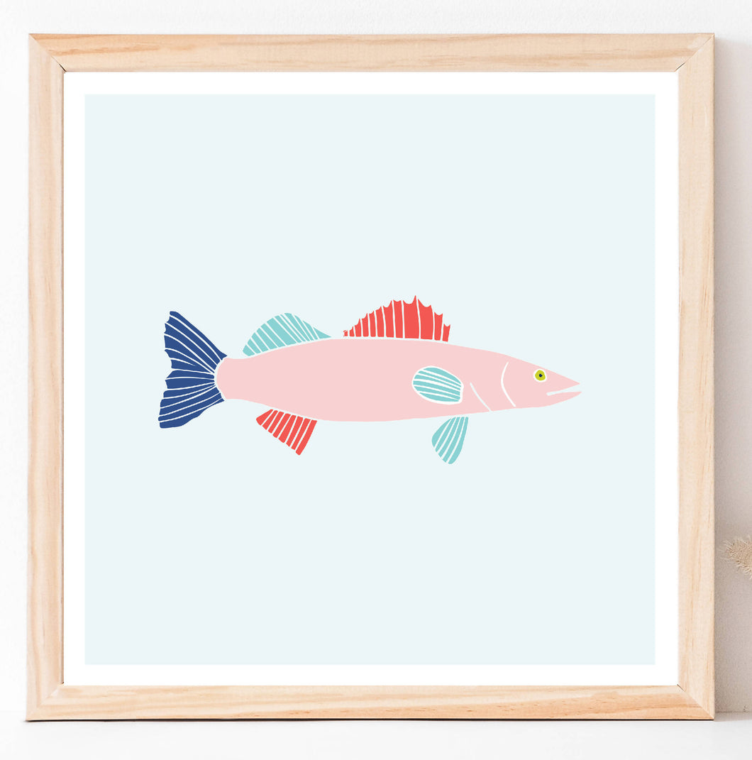 Walleye Fish Wall Art - Digital Print