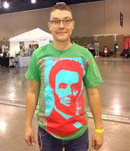 "Load image into Gallery viewer, ""Classic Lincoln"" T-shirt (Grass Green)"