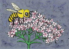 Load image into Gallery viewer, Honey Bee and Valerian Print