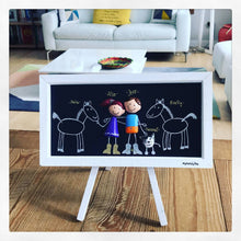 Load image into Gallery viewer, CUSTOM FAMILY PORTRAIT- Framed Family Portrait Clay- Anniversary Gift- Wedding Gift- Engagement- Baptism