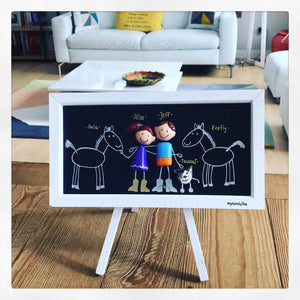 CUSTOM FAMILY PORTRAIT- Framed Family Portrait Clay- Anniversary Gift- Wedding Gift- Engagement- Baptism