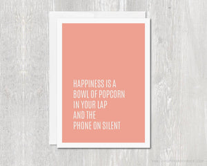 Greeting Card - Happiness Is...