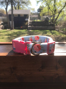 Handmade Floral Dog Collar