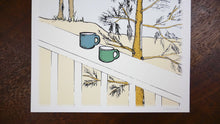 Load image into Gallery viewer, Coffee at the Cabin Art Print
