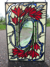 Load image into Gallery viewer, Stained Glass Art Nouveau Flowers