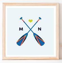Load image into Gallery viewer, Minnesota Painted Oars Wall Art - Digital Print