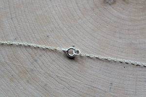 Silver Hammered Linked Circles Necklace