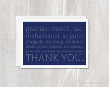 Load image into Gallery viewer, Greeting Card - Gracias Merci Thank You