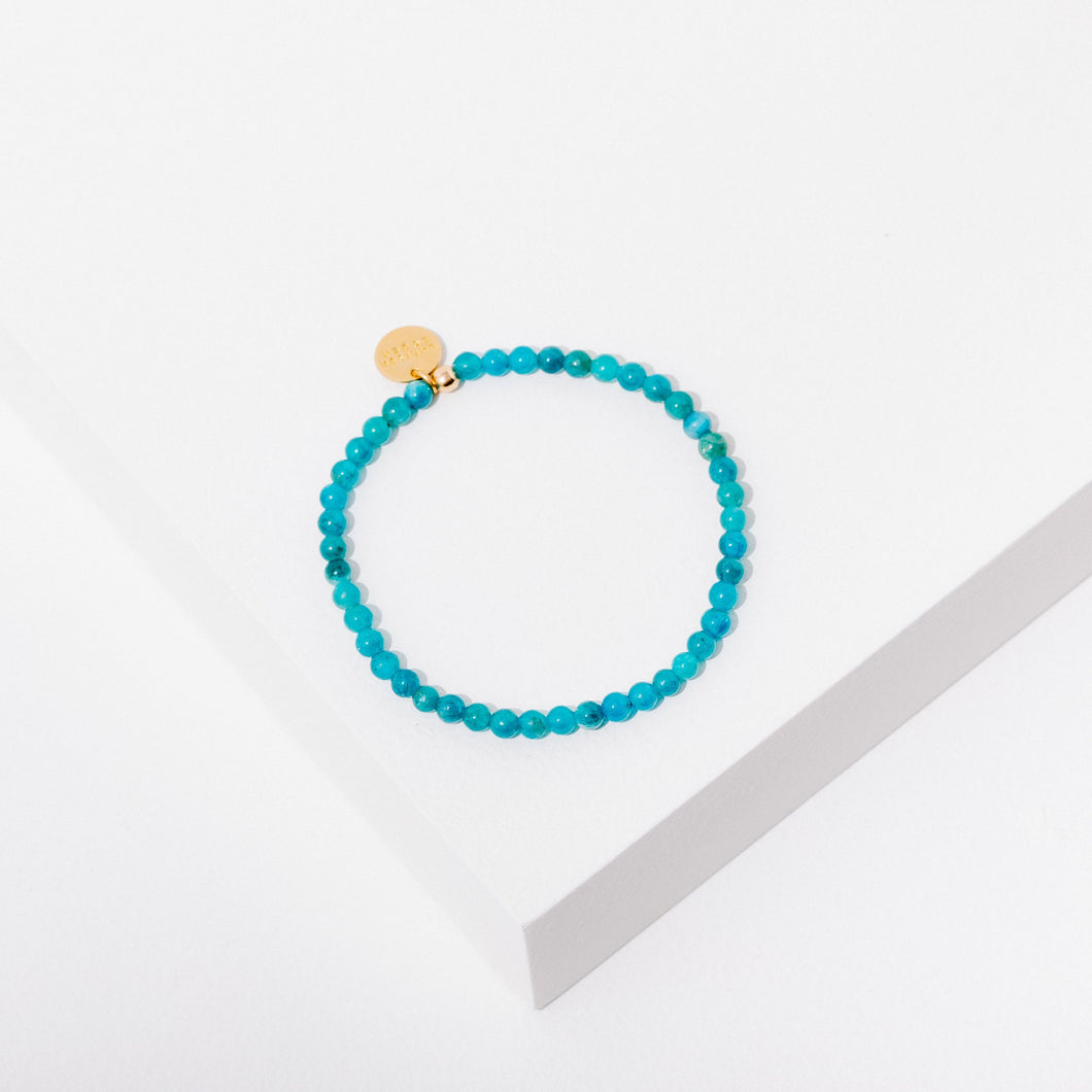 Healing Your Feelings Bracelet in Blue Apatite