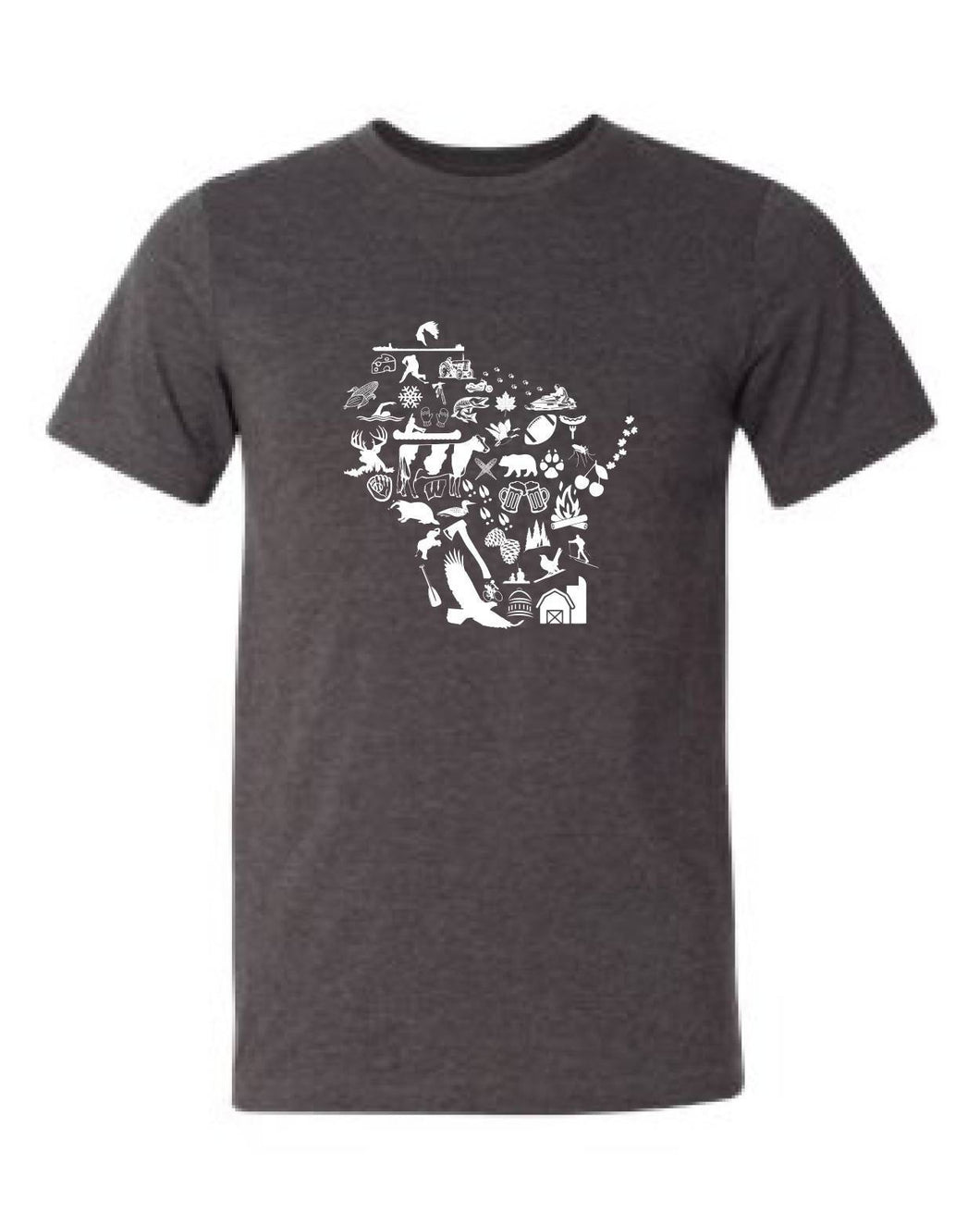 Wisconsin Icons Shirt (Dark Grey Heather)