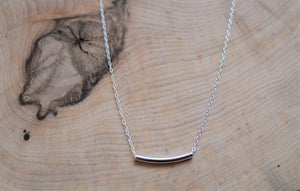 Minimalist Silver Bar Necklace