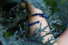 Load image into Gallery viewer, guitar string lapis lazuli bangle bracelet