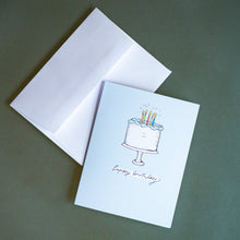 Load image into Gallery viewer, Happy Birthday Cake Greeting Card