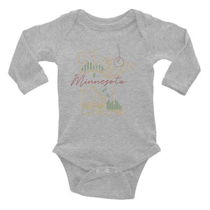 All of Minnesota Infant Long Sleeve Bodysuit