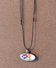 Load image into Gallery viewer, Stack of Hearts - Mini Embroidery - Choose Necklace or Magnet