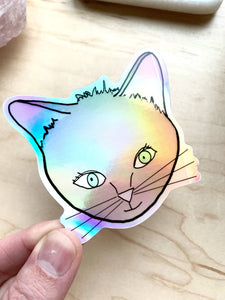 Kitty Cat Holographic sticker