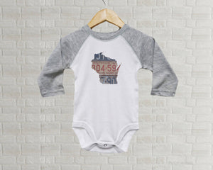 Wisconsin Baby Bodysuit | Romper | Vintage License Plate Art