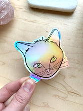 Load image into Gallery viewer, Kitty Cat Holographic sticker