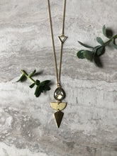Load image into Gallery viewer, Geometric Labradorite Necklace