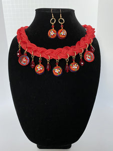 Mexican Artisan Set of Necklace and Earrings