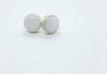 Load image into Gallery viewer, Small Round White Stud Earrings