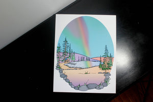 Rainbow Cabin 11x14in Signed Art Print
