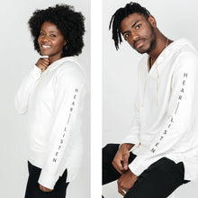 "Load image into Gallery viewer, The Venture ""Hear - Listen""  Bamboo/Organic Cotton Hoodie for Men and Women"