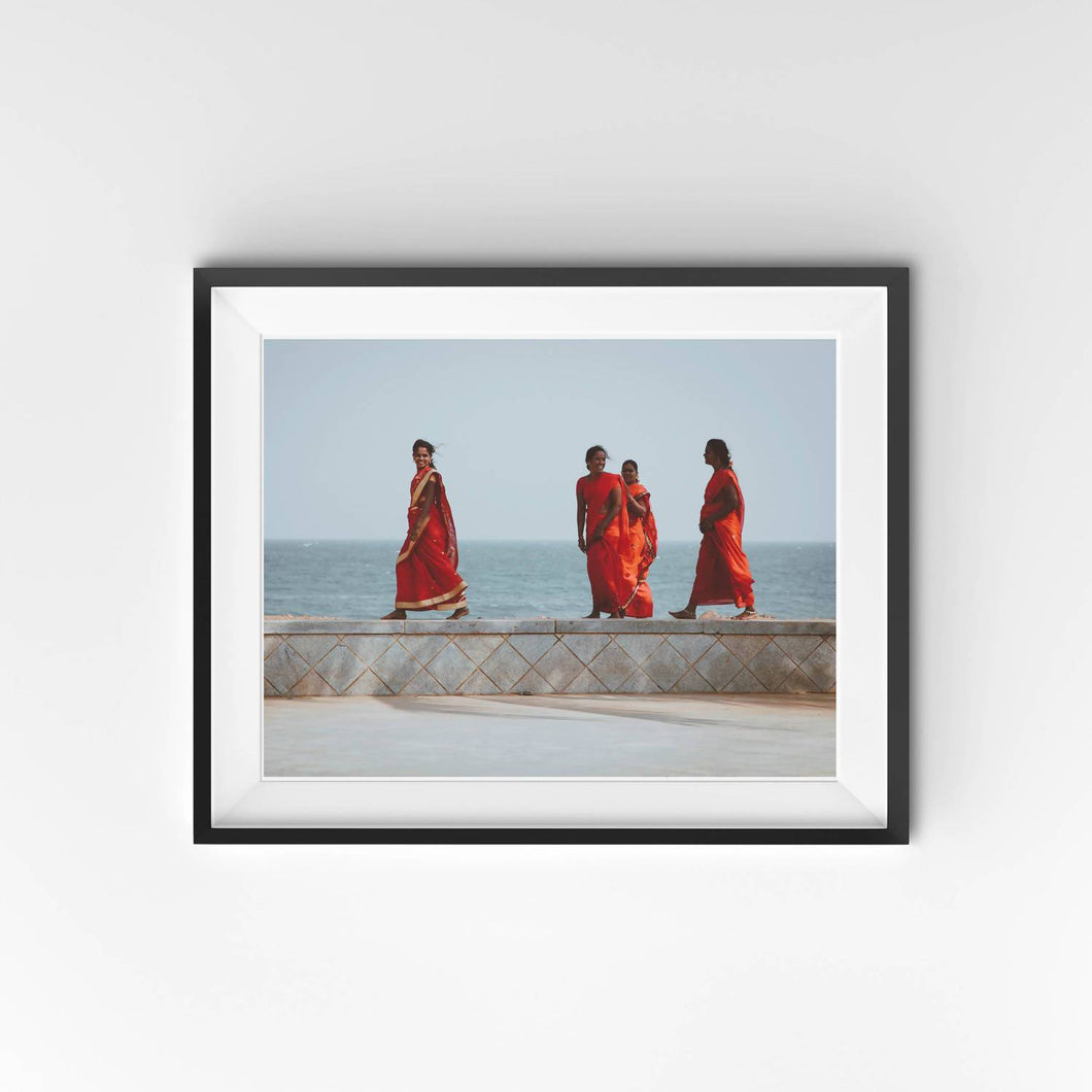 Ladies In Red Saris