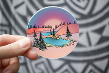 Load image into Gallery viewer, Pink Sunset Hills Sticker