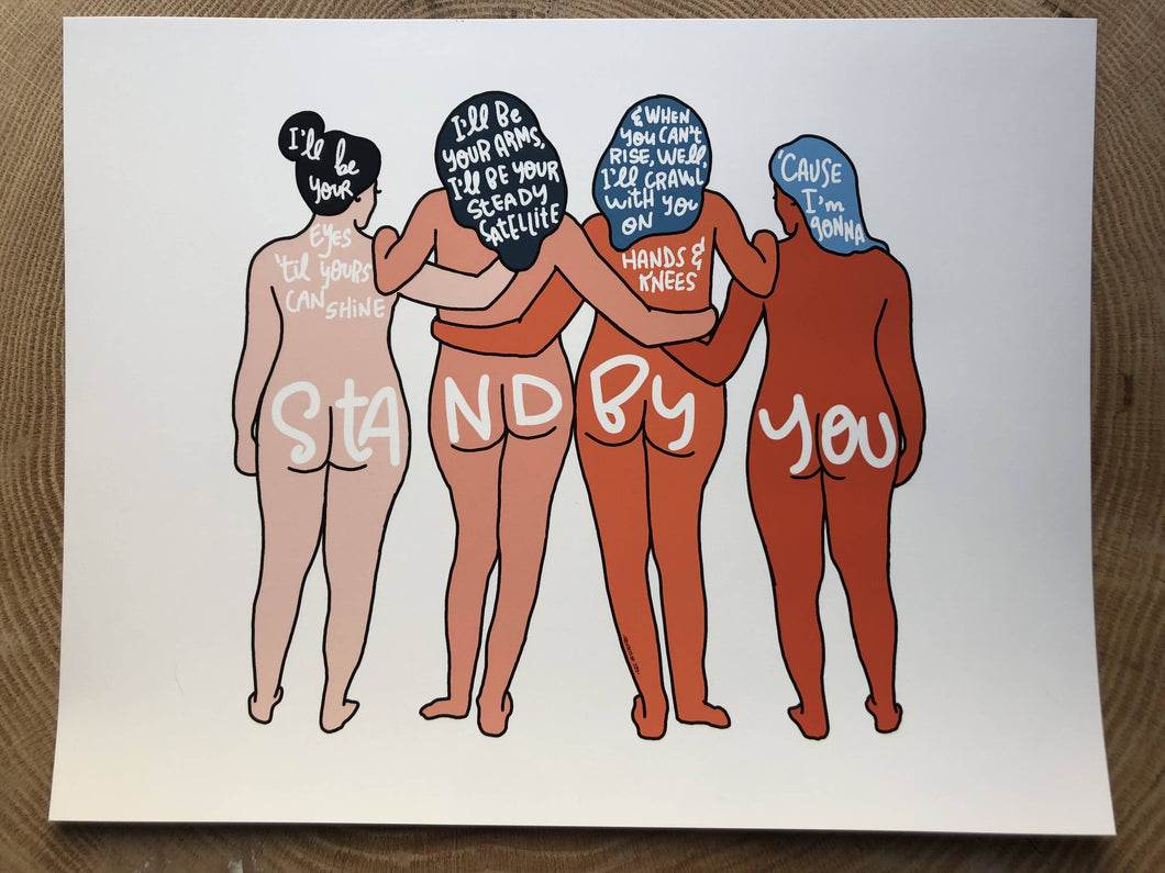 Stand by you girl gang print