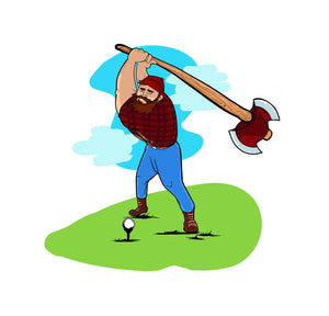 Paul Bunyan Golf Print