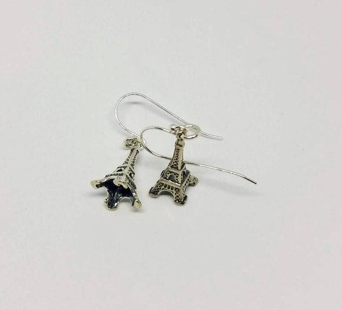Sterling Silver Eiffel Tower Earrings
