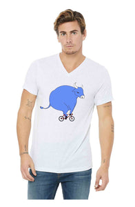 Babe On A Bike V-Neck Shirt