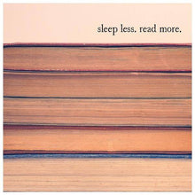 Load image into Gallery viewer, Vintage Books Quote Print | Sleep Less Read More