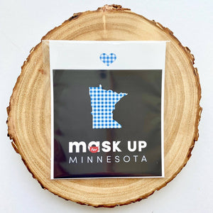 Mask Up for Minnesota Car Magnet