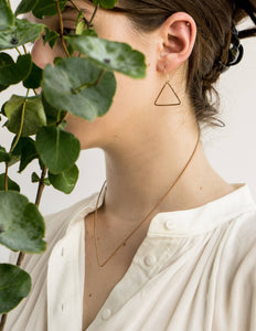 guitar string triangle earring