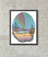 Load image into Gallery viewer, Rainbow Cabin 11x14in Signed Art Print