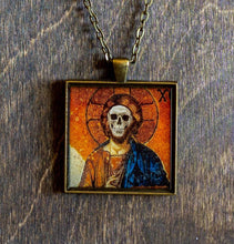 Load image into Gallery viewer, Saint Christopher Necklace Layered Necklace - Turquoise