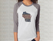 Load image into Gallery viewer, Wisconsin Raglan T-Shirt | Adult Unisex Tee Shirt