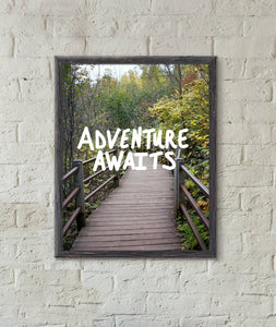 "Adventure Awaits 11"" x 14"" Photography Art Print"