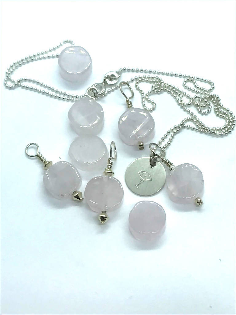 Rose Quartz I AMulet Necklace - I AM LOVED