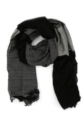 Load image into Gallery viewer, Black Patterned Block Scarf