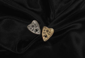 "The Oracle - Ouija Planchette - Halloween Series Spooky Lapel Pins - 1.25"" Hard Enamel - Black - Silver - Gold - Goth - Witchy"