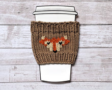 Load image into Gallery viewer, Coffee cup cozy with fox