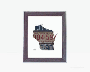 Wisconsin Home Print