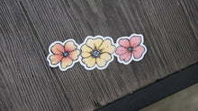 Load image into Gallery viewer, Three Flower Fun Vinyl Sticker