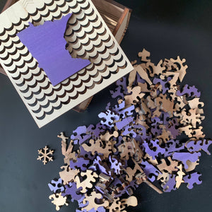 Minnesota Wooden Puzzle - Purple