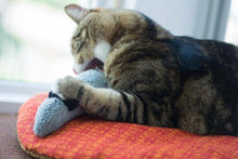 Load image into Gallery viewer, Organic catnip cat toy, wool mouse cat toy, large kicking toy, wool sock, mouse, eco friendly, jouet pour chat, Marvelous Melissa,