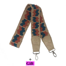 Load image into Gallery viewer, Handmade bag strap Cream Blue Vintage Kilim (A piece of art) This product coming with Gift